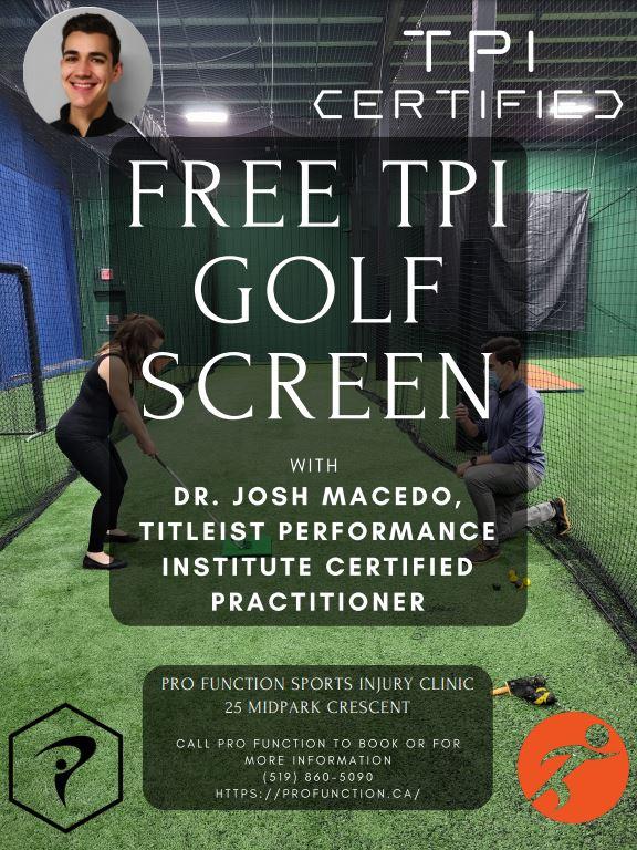 Free Golf Assessment Sign